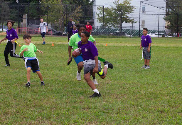 North Brooklyn Cops and Kids Bond Over NYPD's Flag Football